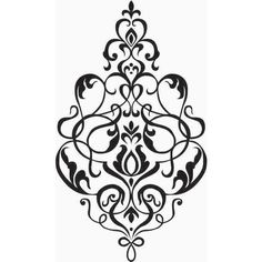 Small Damask Wall Decal, Vinyl, Sticker, Brocade ❤ liked on Polyvore featuring home, home decor, wall art, damask home decor, wall-sticker, wall home decor, vinyl home decor and vinyl wall stickers