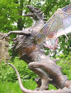 Buy Campania International Abraxas Dragon Garden Statue Dragons