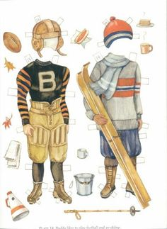Brooke and Buddy of the 1920s Paper Dolls by Evelyn Gathings, -Dover Publications, 2000: Plate 14 (of 16)