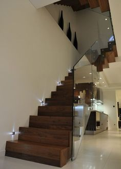 Subtle and Chic Stairway Lights