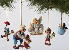 Jim Shore Disney Traditions ~ Pinocchio Ornament Set