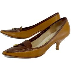 Salvatore Ferragamo Cinnamon Tweeny Crocodile Kitten-Heel Pumps ...