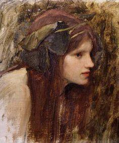 John William Waterhouse | Study for a Naiad - John William Waterhouse as art print or hand ...