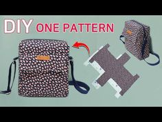 DIY How to make a rectangular bag easily/Free pattern/한장의 패턴… Bag Pattern Free, Bag Patterns To Sew, Sewing Patterns, Diy Handbag, Diy Purse, Fabric Crafts, Sewing Crafts, Sewing Projects, Sewing Hacks