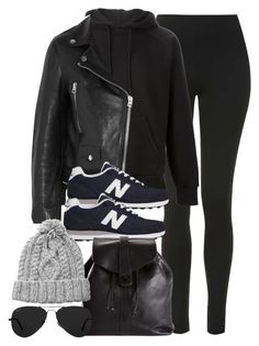 """""""Style #9842"""" by vany-alvarado ❤ liked on Polyvore featuring Topshop, SWEAR, Acne Studios, New Balance, Chanel, HANDSOM and Ray-Ban"""