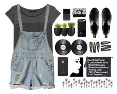 more black sorry (#149) by bastille-anna on Polyvore featuring polyvore, fashion, style, MANGO, Dr. Martens, Authentics, Incase and Jura
