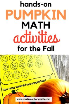 Free pumpkin math ideas and activities for kindergarten through 3rd grade students. Kids estimate, count, and graph pumpkin seeds using these the Pumpkin Investigations free printables. Subtraction Activities, Kindergarten Activities, Maths Investigations, Number Sense Activities, Classroom Routines, 1st Grade Math, Addition And Subtraction, Elementary Teacher, Teaching Tips