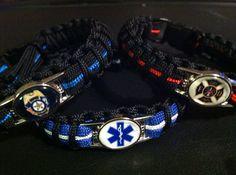 Police • Fire • EMS• Paracord Survival Bracelet