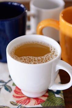 For cold winter nights. Russian Tea: orange and lemon juice with hints of vanilla and almond (mels kitchen cafe)