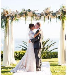 Fall Wedding Arches, Wedding Arch Flowers, Winter Wedding Flowers, Floral Wedding, Pug Wedding, Dream Wedding, Orange Wedding, Spring Wedding, Boho Wedding