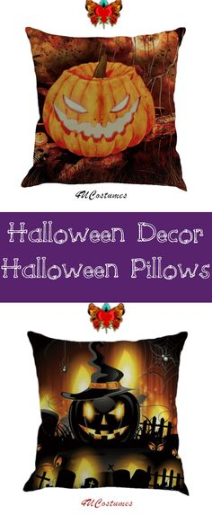 Paying $30 for pillows you only use once a year? Pay half the price and get twice the Halloween decor. Afterward, fold the pillowcase (or tuck it) into the closet for next year! Enjoy. Repeat! #halloweendecor #halloweenpillow #halloweendecorations #pumpkinpillow #pumpkindecor