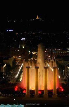 Fonts de Montjuïc al vespre. Barcelona. Andry Aguirrefoto  Catalonia