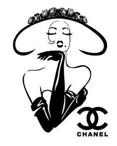 Haute Couture Poster Classy Chic Chanel Haute Couture art
