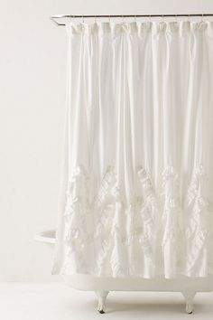 Waves Of Ruffles Shower Curtain. LOVE!