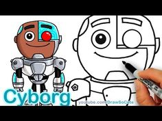How to Draw Chibi Cyborg step by step Teen Titans Go