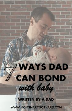 dad bond with baby pin image