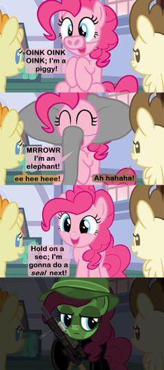 Professional Silliness by Beavernator on DeviantArt Mlp Comics, Funny Comics, Magic Memes, My Little Pony Baby, Mlp Memes, Nerdy, Pinkie Pie, Geek Stuff, Hilarious