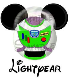 Buzz Lightyear from Toy Story inspired Mickey Head digital printable file DIY on Etsy, $3.00