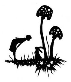 FREE Template - Mushroom Bunny.  This is begging to be on a bag!!