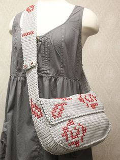 Crochet - Rose Messenger Bag - #AC01363