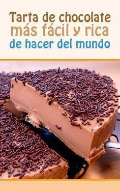:) Tarta de chocolate más fácil y rica de hacer del mundo   Más en https://lomejordelaweb.