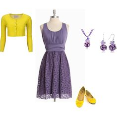 Purple and yellow style