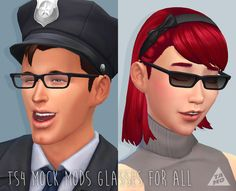 "tamo-sim: "" UPDATE I've update ""thick round gasses age conversion"" and ""TS4 mock mods glasses"". Updated files to newest gender patch. And now both glasses have sunglasses types, new custom thumbnails...."