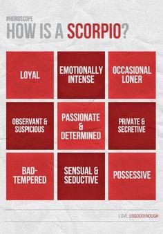Scorpio - personality traits - pretty much sums me up! Scorpio Personality Traits, Scorpio Traits, Scorpio Zodiac Facts, Scorpio Quotes, Zodiac Traits, Zodiac Sign Facts, Zodiac Quotes, Astrology Scorpio, Libra