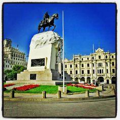 Plaza San Martín in Cercado de Lima, Lima
