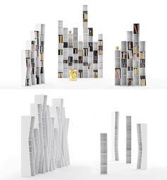 Such simple yet amazing bookshelves