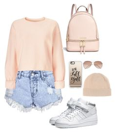 """Untitled #6"" by miyala ❤ liked on Polyvore featuring Glamorous, Miss Selfridge, adidas Originals, Michael Kors, Casetify, H&M and Jardin des Orangers"