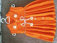 Baby Knitting Patterns, Lace Patterns, Knitting Stitches, Knitting Designs, Hand Knitting, Crochet Patterns, Knit Baby Dress, Diy Shorts, Beaded Jewelry Designs