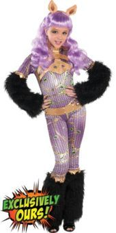 girls supreme monster high clawdeen wolf costume - Clawdeen Wolf Halloween Costume