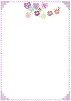 Mothering Sunday borders - A wide range of themed borders for your Mothering Sunday/Mother's Day writing activities.