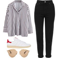 Untitled #1194 by noellescholte on Polyvore featuring Topshop, adidas and Christian Dior