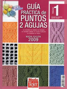 Delicadezas en crochet Gabriela: Guìa pràctica de puntos 2 agujas