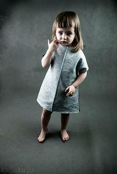 sukienka/tunika dresowa, 2 kolory - kujukuju - Sukienki