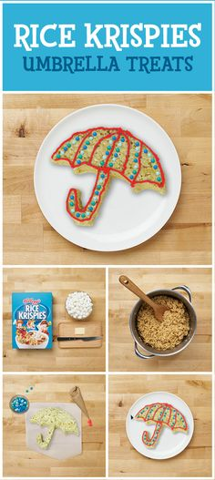 Fun in a Snap! Ready for a treat? Next time a rainy day dampens your spirits, gather the family and make these delicious snacks for some indoor fun! They're a great inside activity for any day because Rice Krispies Treats are so simple to make that everyone can use their creativity to craft tasty creations!