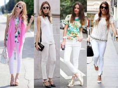 Resultado de imagem para usar calça jeans branca
