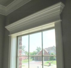 Window molding ideas doorway and window molding house interior window trim home and home decor rustic Window Crown Moldings, Window Casing, Moldings And Trim, Molding Ceiling, Wall Molding, Door Design, House Design, Studio Design, Interior Window Trim