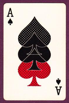1 Single Swap Playing Card Ace of Spades Triple Decker Spade in Red & Black | eBay