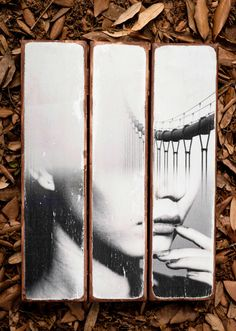Photo glued over wood pieces (Spuce wood)  dimensions; 40x30x2cm  for Custom Portraits;  Send us your high resolution photo and we will deliver you