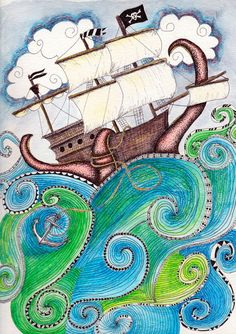 Pirate Peril Art Print