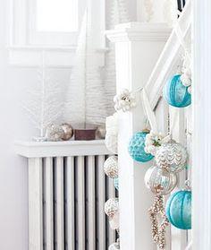 pretty tiffany blue decorations christmas staircase christmas baubles white christmas decorations christmas - Tiffany Blue Christmas Ornaments