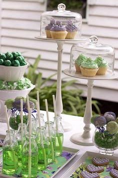 Vintage Purple & Green Dessert Table | Flickr - Photo Sharing!