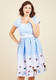 Work Wonderlands Cotton Dress. You don't need to put in long hours to have the perfect seasonal ensemble, because this cotton dress provides start-to-finish chic! #blue #modcloth