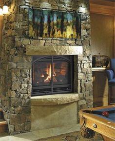 #Basement fireplace #DIY- click to learn how: http://www.familyhandyman.com/basement/basement-finishing-tips