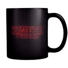 Stranger Things Mug Content + Care - Ceramic - Gently Hand Wash - Black Mug…