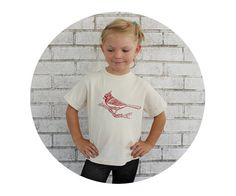 Cardinal T-shirt Toddler Screen-printed Graphic by CausticThreads
