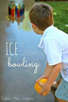 Beat the heat while staying active with bowling balls made of ICE - so cool!